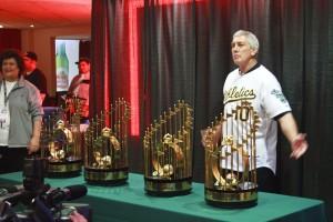 A's World Series Trophies @ A's FanFest 2012